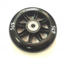 Колесо 00-180090 для ТРЮКОВОГО самоката, пластиковое с подшипником ABEC9 100мм черное SUB