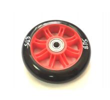 Колесо 00-180091 для ТРЮКОВОГО самоката, пластиковое с подшипником ABEC9 100мм красное SUB