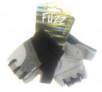 Перчатки 08-202302 лайкра RACING TEAM серо-черные, размер S, D-GRIP GEL. с петельками, на липучке FUZZ