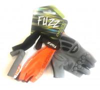 Перчатки 08-202322 лайкра AIR COMFORT черно-бело-оранжевые, размер S, D-GRIP GEL, на липучке FUZZ