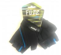 Перчатки 08-202341 лайкра GEL COMFORT черно-голубые, размер XS, D-GRIP GEL. с петельками, на липучке FUZZ