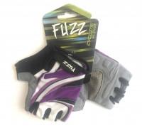 Перчатки 08-202532 лайкра LADY COMFORT фиолетовый, размер S, с петельками, на липучке FUZZ