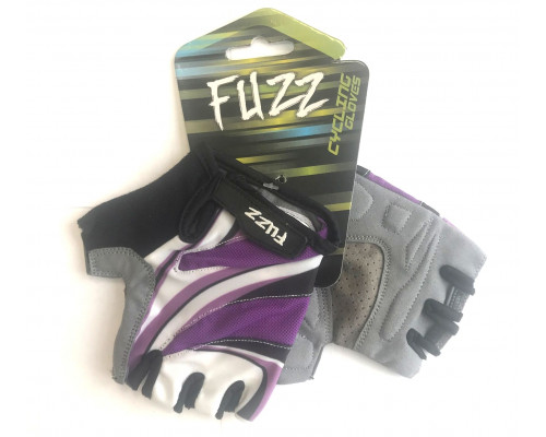 Перчатки 08-202531 лайкра LADY COMFORT фиолетовый, размер XS, с петельками, на липучке FUZZ
