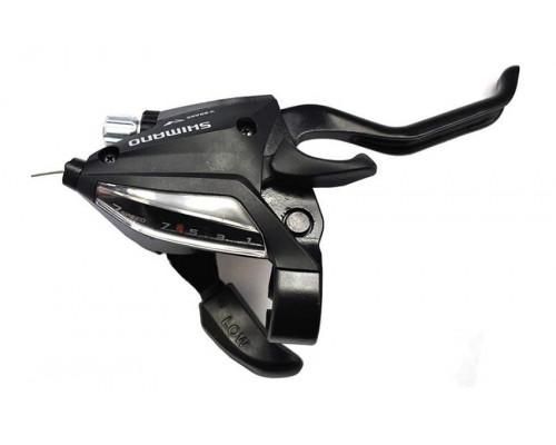Переключатель TOURNEY ESTEF5002RV7AL 2-3171 шифтер + тормозная ручка 2пальца 7 скоростей правый черный  SHIMANO