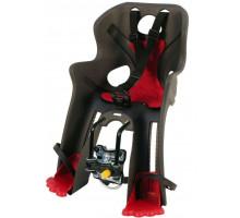Сиденье 0-280090 детское передний Rabbit B-Fix на раму/вынос серо-красное до 15кг BELLELLI