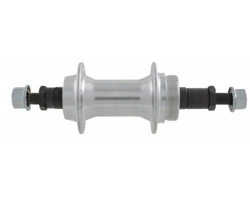 Втулка 00-170023 алюминиевая задняя 36 отверстий для трещетки с гайкой 135мм серебристая