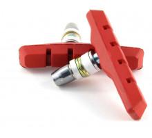 Тормозные колодки 00-170112 с крепежом симметричные 70мм красные