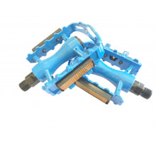 Педали 00-170362 алюминиевые литые с отражателями, синие