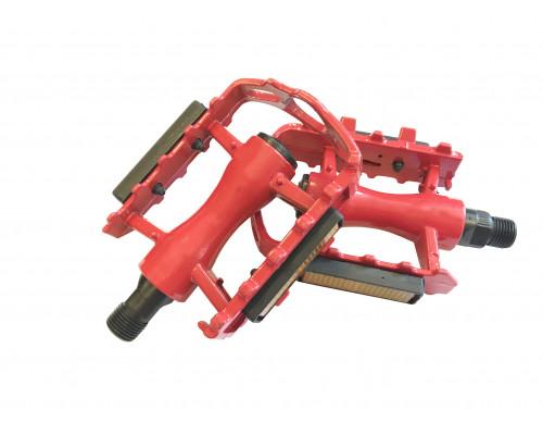 Педали 00-170363 алюминиевые литые с отражателями, красные