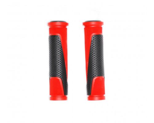 Ручки 00-170468 на руль H305 резиновые 130мм черно-красные