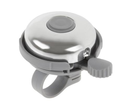 Звонок 00-170692 алюминий/пластик D=45мм серебристый-серый