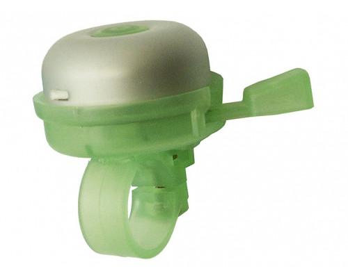 Звонок 00-170711 алюминий/пластик D=50мм серебристый-зеленый