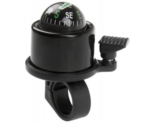 Звонок 00-170717 алюминиевый /пластик С КОМПАСОМ 360` черный