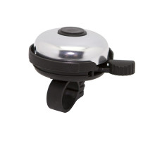 Звонок 00-170720 сталь/пластик D=45мм черно-серебристый