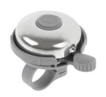 Звонок 00-170730 сталь/пластик H-017A D=53мм серо-серебристый глянцевый