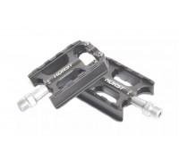 Педали 00-170820 алюминиевые H04 ось Cr-Mo с 3 герметичными промподшипниками, сменными шипами облегченные 86*67*23мм, 260 г серые HORST