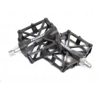 Педали 00-170836 алюминиевые H36 широкие с 2-мя герметичными промподшипниками 92*95*15мм, 420 г черные HORST