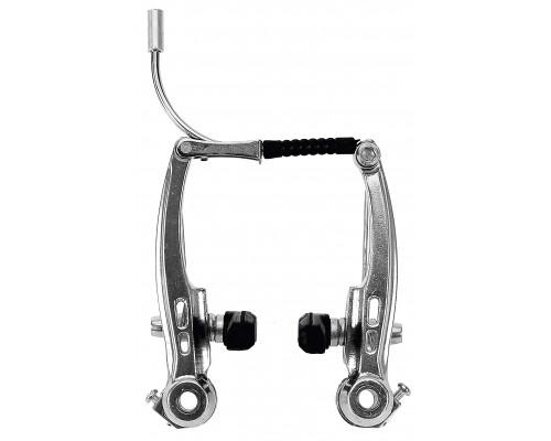 Тормоза 00-171201 V-брейк передний+задний 110мм алюминиевый серебристые HORST