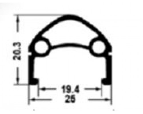 Обод 26″ 00-180911 H35236 двойной, пистонированный, для дискового тормоза (559х25/19,4х20,3мм 36 отверстий) черный