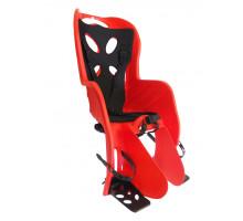 Сиденье 01-100072 детское на багажник CURIOSO DELUXE красное с черной вставкой до 22кг 'NFUN