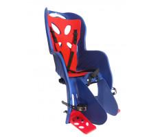 Сиденье 01-100076 детское на багажник CURIOSO DELUXE синее с красн вставкой до 22кг 'NFUN