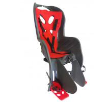 Сиденье 01-100084 детское на багажник CURIOSO DELUXE темно-серое с красной вставкой 'NFUN