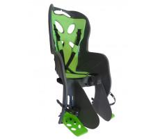 Сиденье 01-100088 детское на багажник CURIOSO DELUXE темно-серое с зеленой вставкой 'NFUN