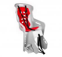 Сиденье 01-100120 детское на багажник BRIOSO светло-серое с красной вставкой (доп. черная вставка в подарок) до 22кг 'NFUN