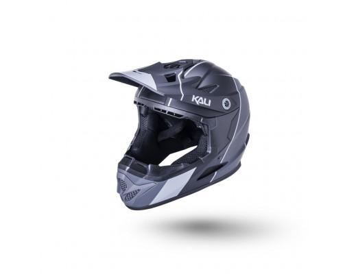 Шлем 02-10621113 Full Face DH/BMX Zoka 6 отверстий Stripe матовый/ черный/серый YL(52-53см) LDL KALI