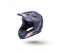Шлем 02-10621122 Full Face DH/BMX Zoka 6 отверстий Stripe матовый/ черный/бронз YM(50-51см) LDL KALI