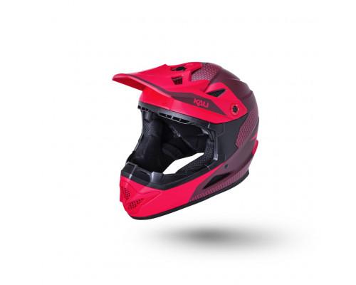 Шлем 02-10621213 Full Face DH/BMX Zoka 6 отверстий Dash матовый/ красн/бордов. YL(52-53см) LDL KALI