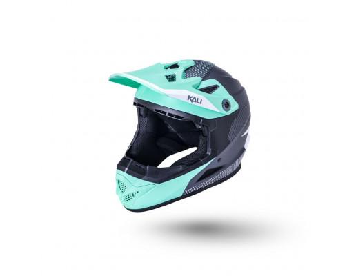 Шлем 02-10621222 Full Face DH/BMX Zoka 6 отверстий Dash матовый/ бирюз/серый YM(50-51см) LDL KALI