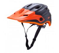 Шлем 02-20417127 ENDURO/MTB MAYA2.0 12 отверстий, Mat Gnm/Org размер L/XL 60-63см. матовый серый, LDL, CF+. KALI