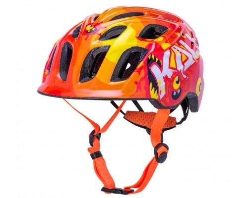 Шлем 02-21020434 KIDS CHAKRA CHILD 21 отверстие, Monsters Org XS 44-50см, 208г. МОНСТРЫ, оранжевый. KALI