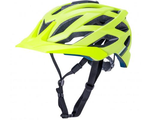 Шлем 02-21120126 ENDURO/MTB LUNATI 25 отверстий, MatFluoYlw S/M 54-58см с креплением камеры, ярко-жёлт, CF. KALI