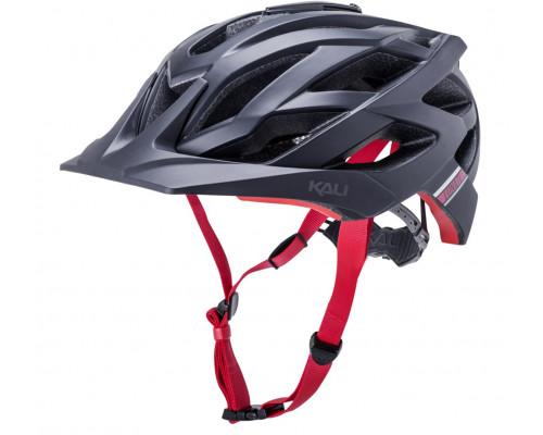 Шлем 02-21120136 ENDURO/MTB LUNATI 25 отверстий, MatBlk/Red S/M 54-58см с креплением камеры, черн-крас, CF. KALI