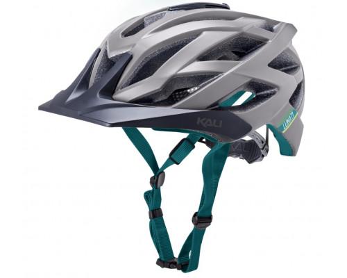 Шлем 02-21120157 ENDURO/MTB LUNATI 25 отверстий, MatGry/Tel размер L/XL 59-61см с креплением камеры, сер-бир, CF. KALI