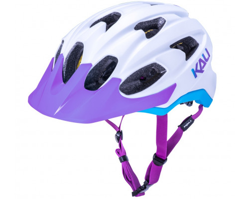 Шлем 02-21720137 TRAIL/MTB PACE 15 отверстий, Mat Wht/Blu/Prp размер L/XL 58-62 бело-фиолет/голубой LDL, CF, KALI