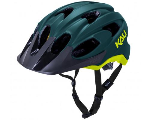 Шлем 02-21720146 TRAIL/MTB PACE 15 отверстий, Mat Tel/Fluo Ylw S/M 54-58. зелено-желтый LDL, CF, KALI