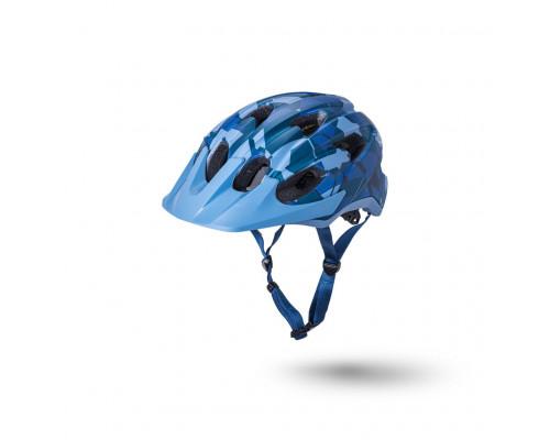 Шлем 02-21721226 TRAIL/MTB PACE 15 отверстий, камуфляж матовый/ синий S/M 54-58 LDL, CF, KALI