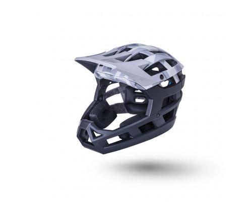 Шлем 02-21821216 ENDURO/MTB FF Invader 2.0 35 отверстий, LDL, NF, CF, камуфляж матовый/ серый/черный XS-M 52-58см KALI