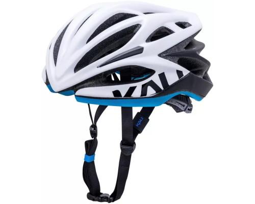 Шлем 02-40220116 ШОССЕ/ROAD LOKA 21 отверстие, Mat Wht/Blk/Blu S/M 54-58. бело-черно-голуб. 250гр, CF, KALI