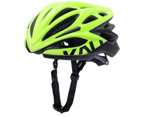 Шлем 02-40220127 ШОССЕ/ROAD LOKA 21 отверстие, Mat Fluo Ylw/Blk размер L/XL 58-62 желто-черный 250гр, CF, KALI