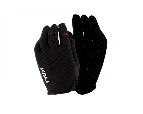 Перчатки 02-430221115 Cascade легкие, Trail, AM, Enduro, Slip-ON бесшовный крой, 4D стрейч, длинные пальцы, совместимы с тачскрином, черные размер S KALI