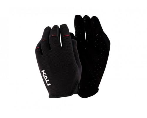Перчатки 02-430221116 Cascade легкие, Trail, AM, Enduro, Slip-ON бесшовный крой, 4D стрейч, длинные пальцы, совместимы с тачскрином, черные размер M KALI