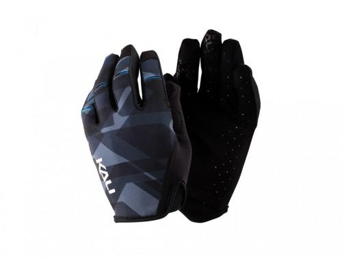 Перчатки 02-430221224 Cascade легкие, Trail, AM, Enduro, Slip-ON бесшовный крой, 4D стрейч, длинные пальцы, совместимы с тачскр, синий камуфляж XS KALI