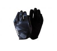 Перчатки 02-430221225 Cascade легкие, Trail, AM, Enduro, Slip-ON бесшовный крой, 4D стрейч, длинные пальцы, совместимы с тачскр, синий камуфляж размер S KALI