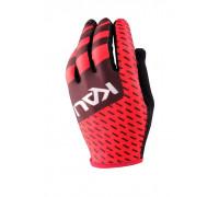 Перчатки 02-430321445 Mission ультралегкие, Slip-ON бесшовный крой, 4D стрейч, длинные пальцы, совместимы с тачскрином, черно-красные размер S KALI