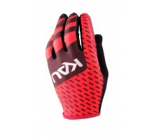 Перчатки 02-430321546 Mission ультралегкие, Slip-ON бесшовный крой, 4D стрейч, длинные пальцы, совместимы с тачскрином, черно-красные размер M KALI