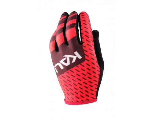 Перчатки 02-430321748 Mission ультралегкие, Slip-ON бесшовный крой, 4D стрейч, длинные пальцы, совместимы с тачскрином, черно-красные размер XL KALI